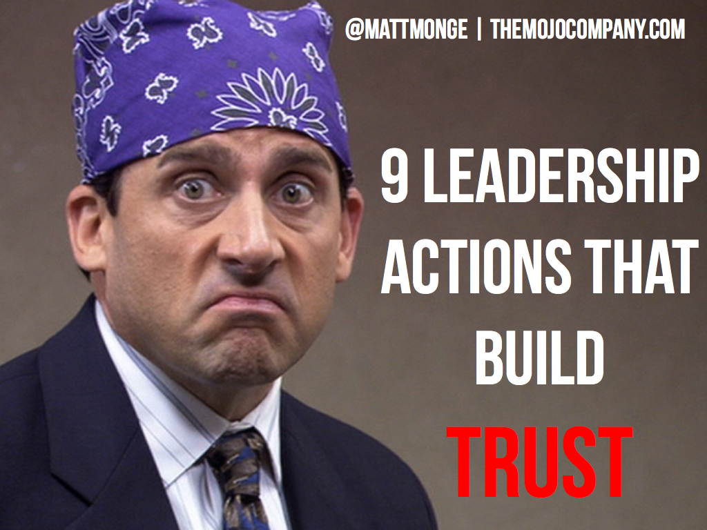 9 #Leadership Actions That Build Trust